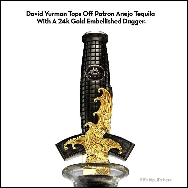 David Yurman Patron Anejo Gold Dagger