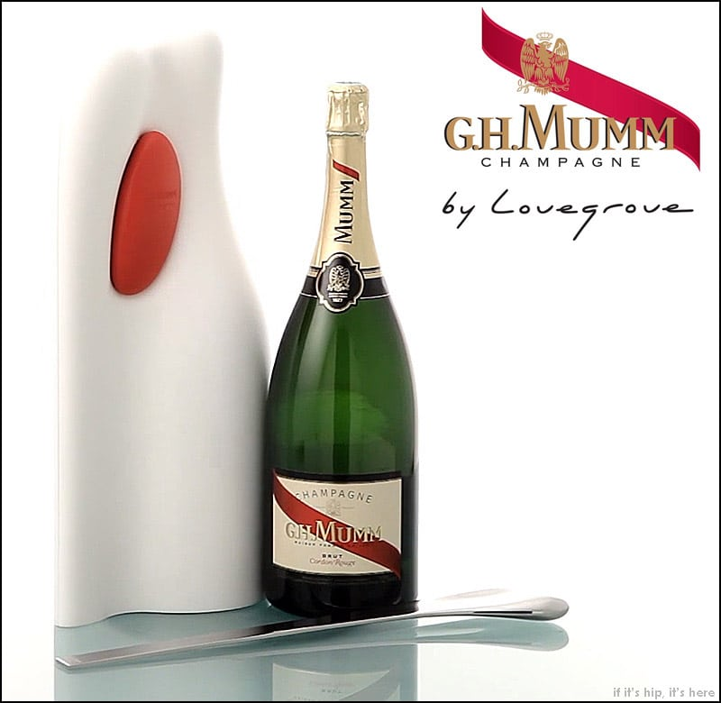 Ross Lovegrove saber and champagne case for Mumm