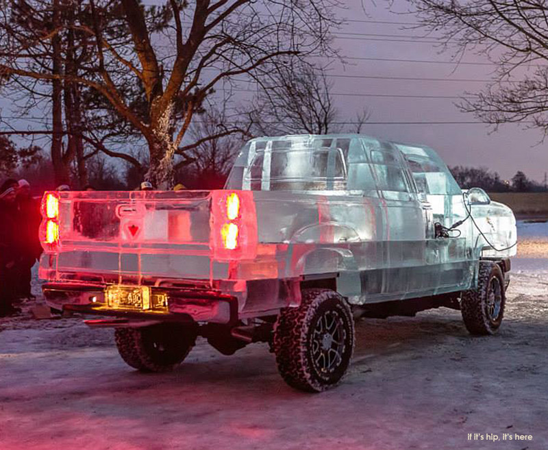 Drivable Truck Made of Ice