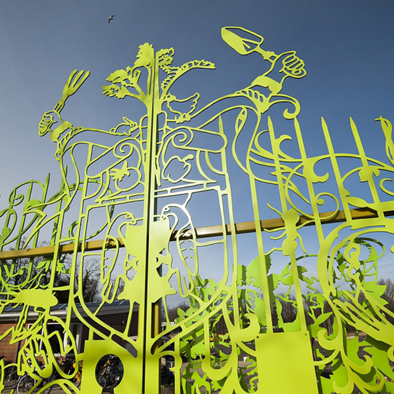 Entrance Gates for new school by artist Tjep