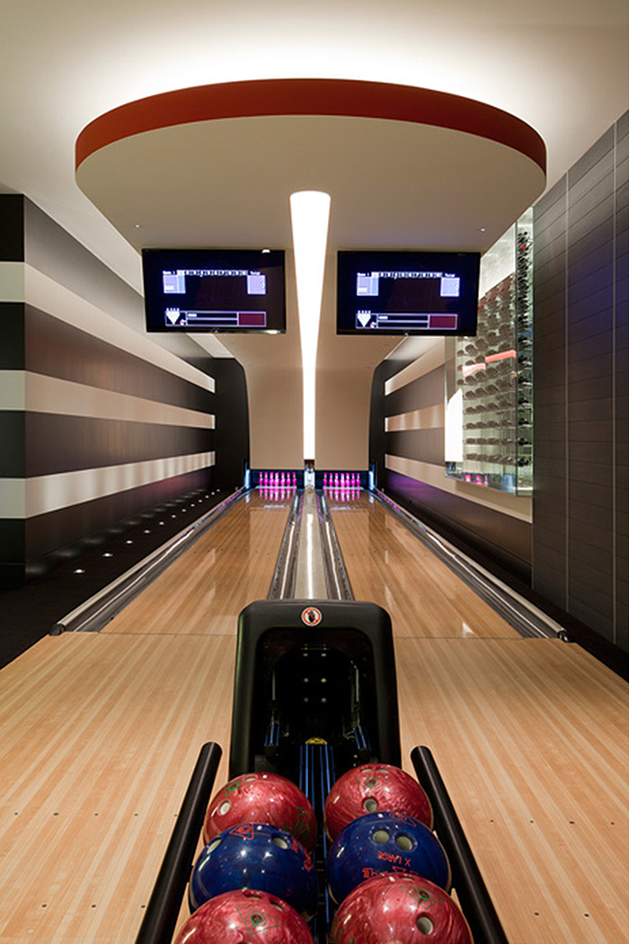 Modern luxury living the architecture interior design for House plans with bowling alley