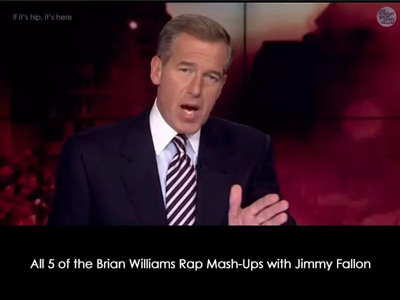 Brian Williams raps mash-ups