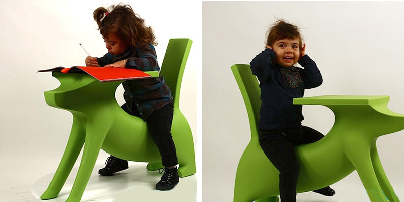 Le Chien Savant Dog Shaped Childrens Desk by Philippe Starck