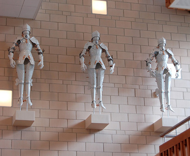 Porcelain suits of armor