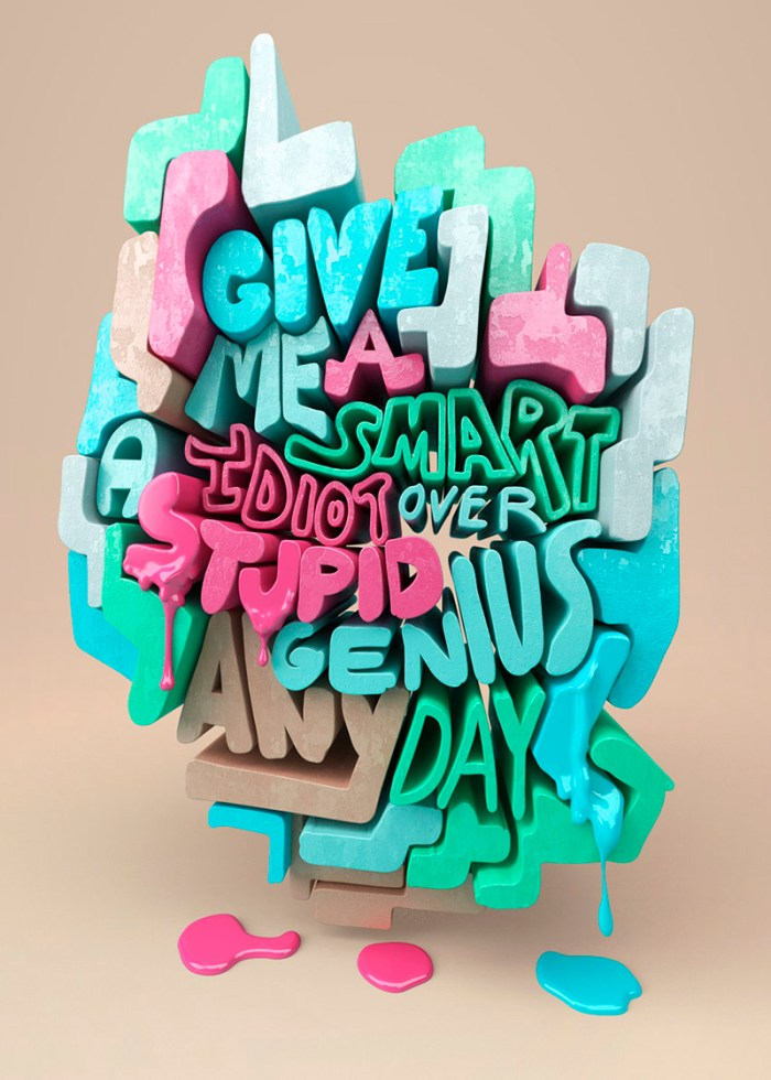 3D Type Design by Chris LaBrooy