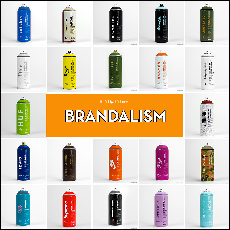 Cutom Spray Paint Cans – if it's hip, it's here