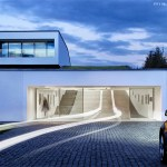 A Home Whose Driveway Is Functional Indoor Space: The Autofamily House.