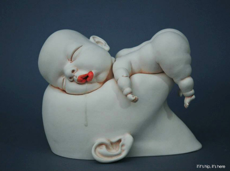 Wild, Weird and Wonderful Porcelain Sculptures by Johnson Tsang – if it's  hip, it's here