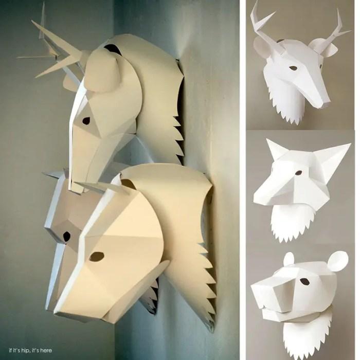 3D Paper Animal Masks