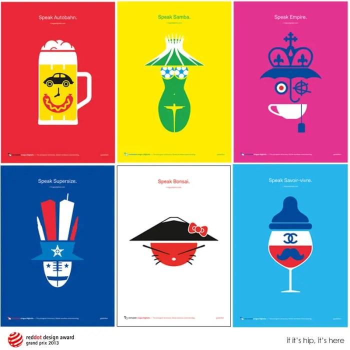 Pictogram Poster Series Promotes Lingua Digitalis Books
