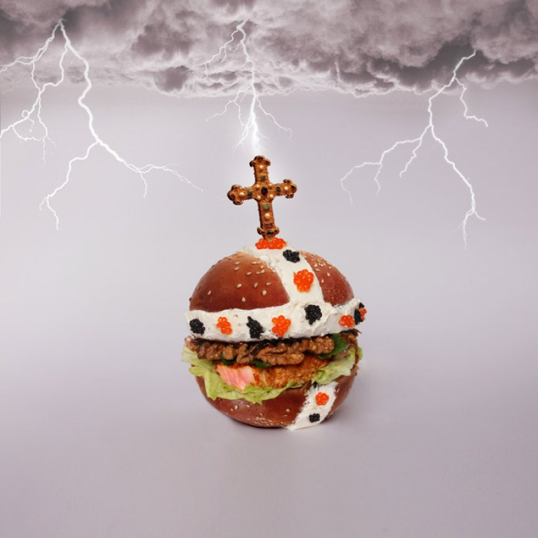 pope burger
