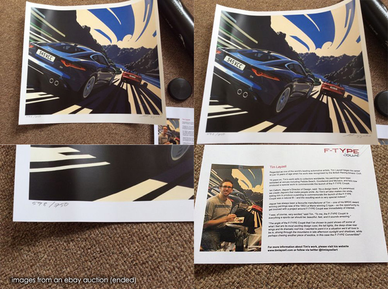 tim layzell jaguar print on ebay IIHIH