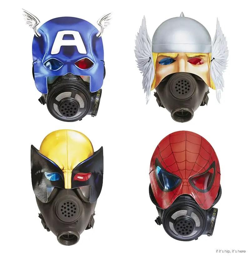 Superhero gas masks ganged IIHIH