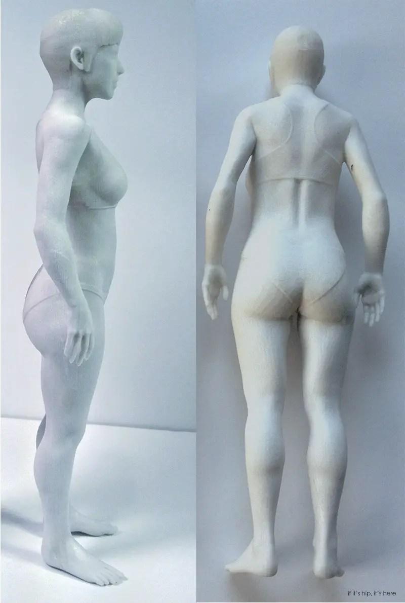 3D printed doll side back IIHIH