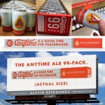 The Anytime Ale 99-Pack Promotes Austin Beerworks' Peacemaker.