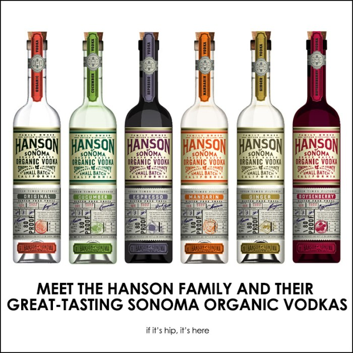 hanson of sonoma organic vodka