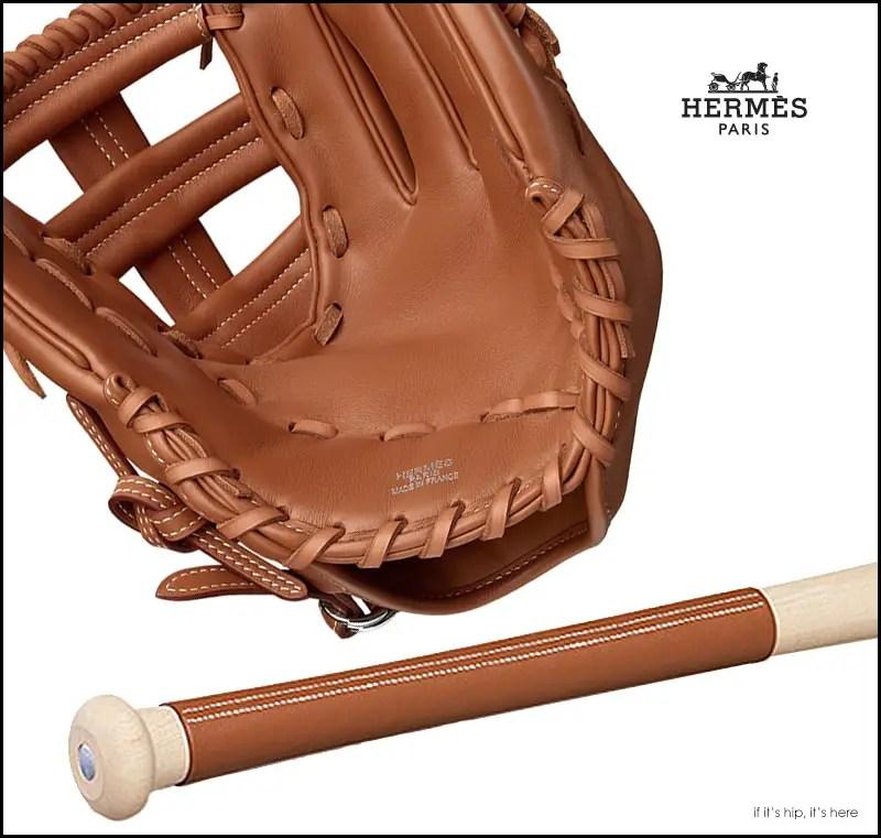 Hermes Baseball Glove and Bat