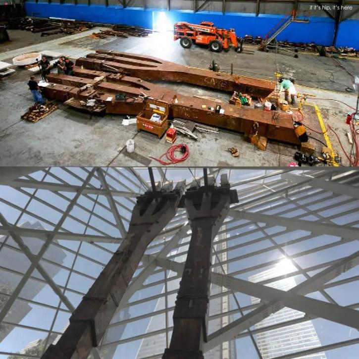 salvaged WTC trident beams IIHIH