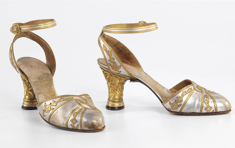 "André Perugia's ""Evening Sandals"" 1928-29, made of leather and metal."