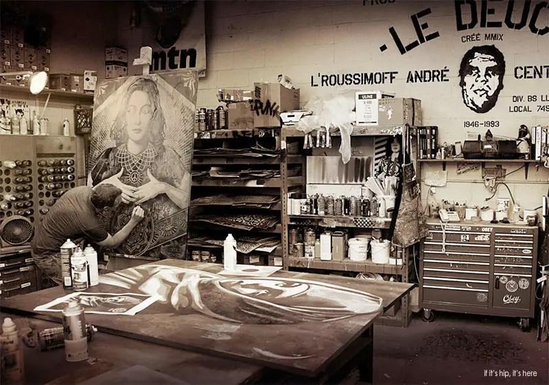 shepard in his studio IIHIH