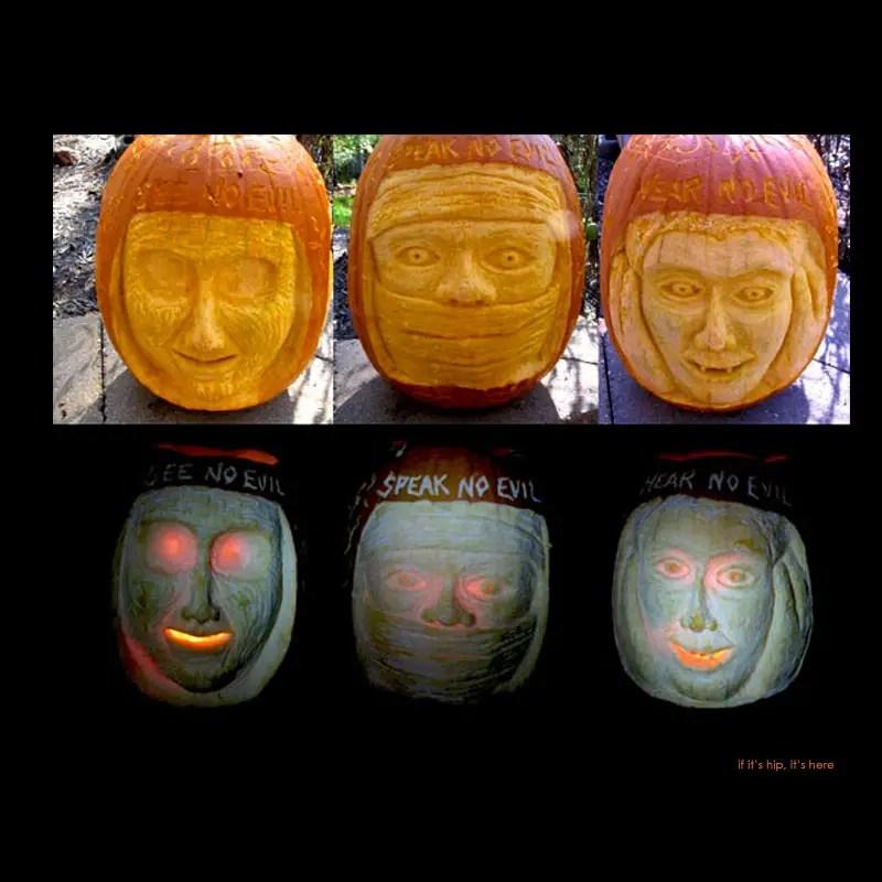 11. Fear No Evil pumpkins carving