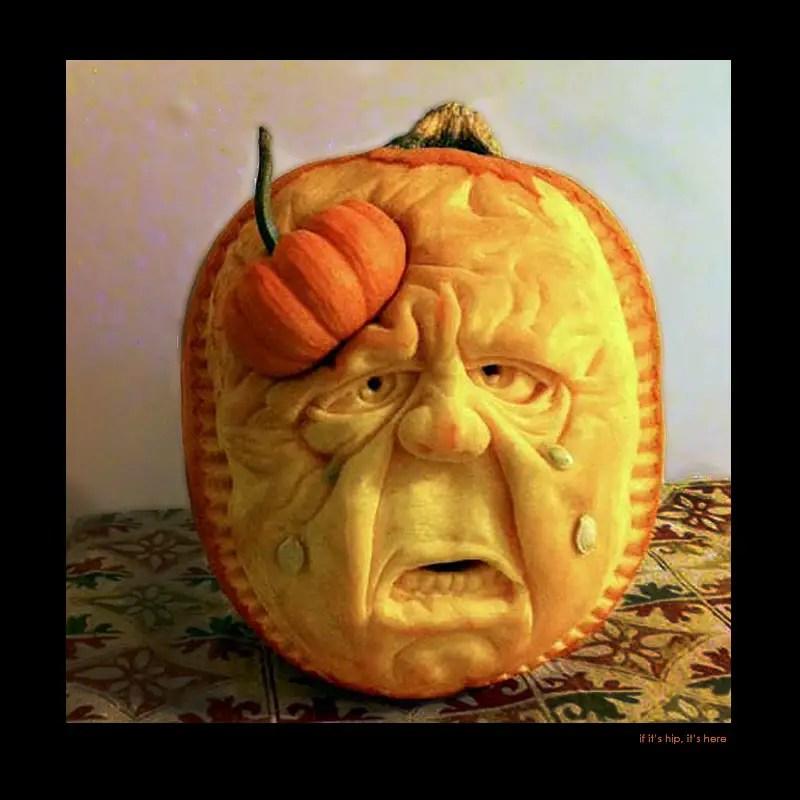 5. Life Hurts pumpkin carving