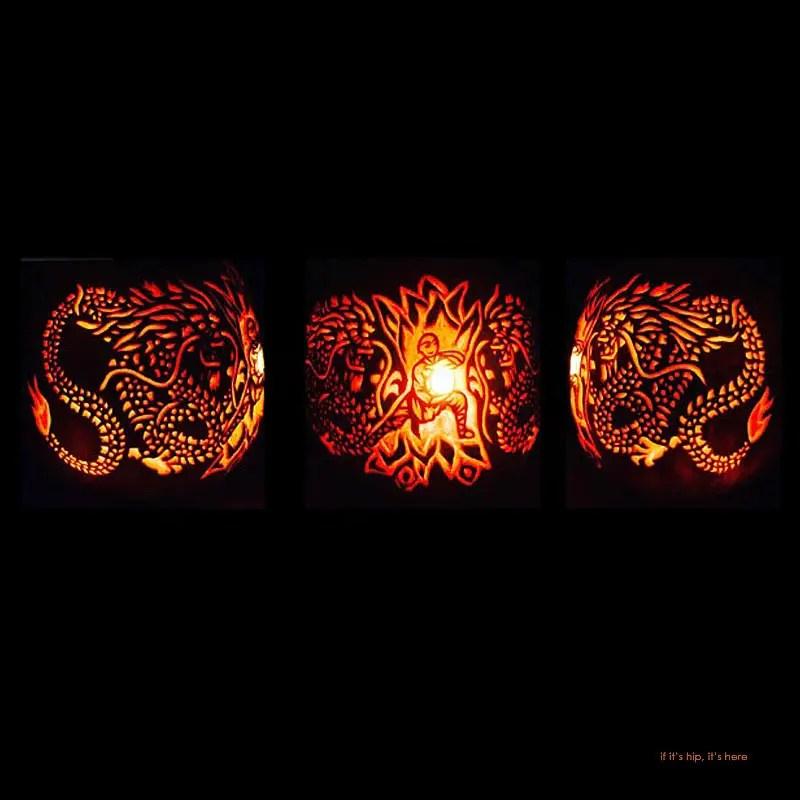 6. Kung Fu Dragon pumpkin carving
