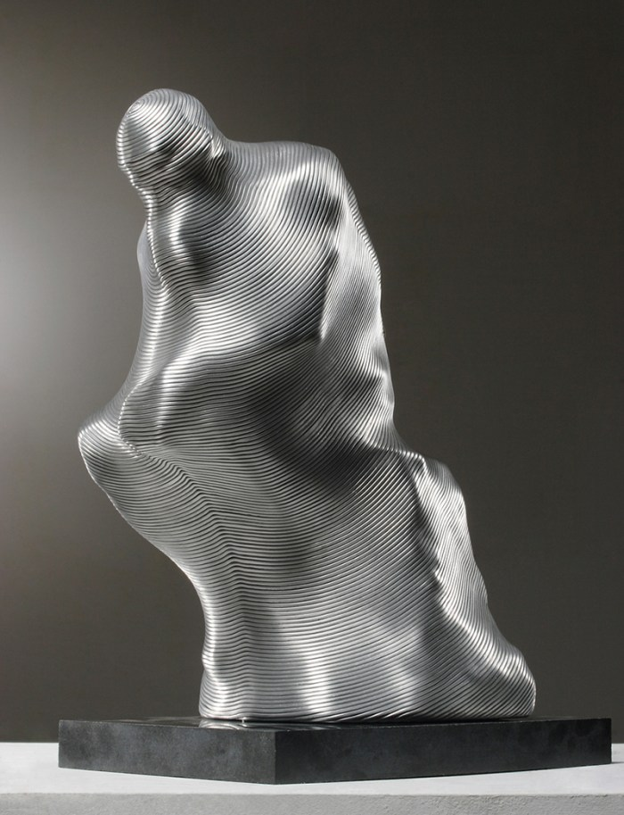 Auguste Rodin's Thinker cast and Wrapped in Wire