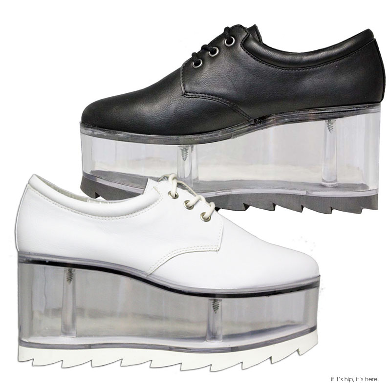 0a83037faab Qloud Shoes  Vegan Leather with Clear Platform