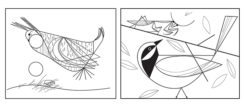 charley harper coloring pages - the best coloring books for grown ups round up part iv