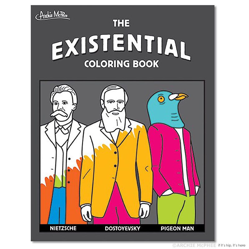 existential coloring book by archie mcphee IIHIH