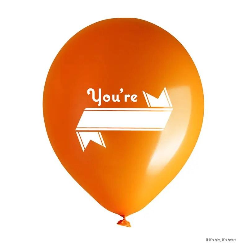 you're blank balloon copy