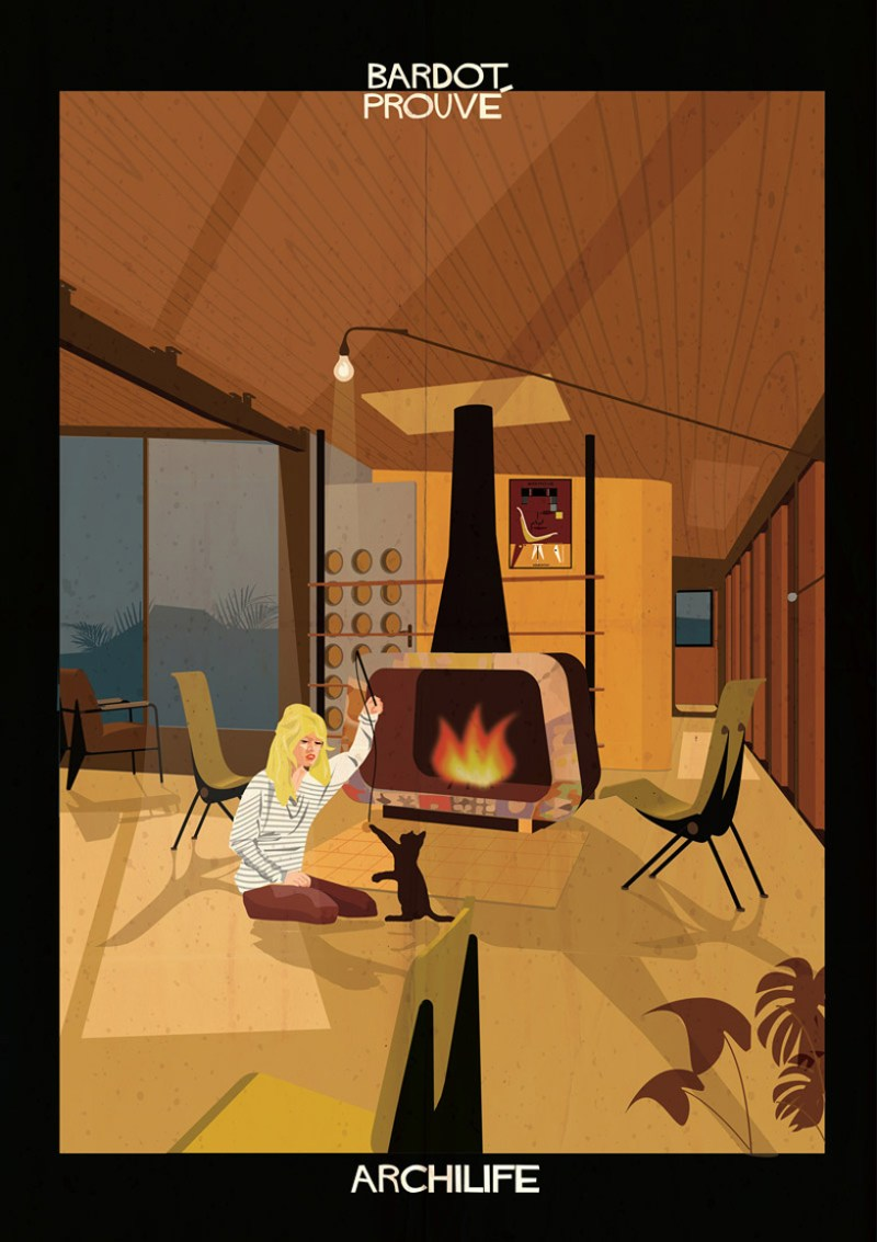 Familiar Movie Actors In Famous Modern Interiors Archilife By Federico Babina If It 39 S Hip