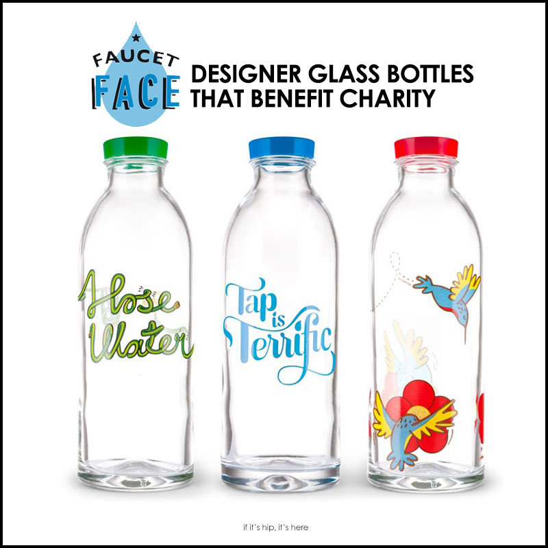 Faucet Face Glass Bottles by Designers Benefit Charity