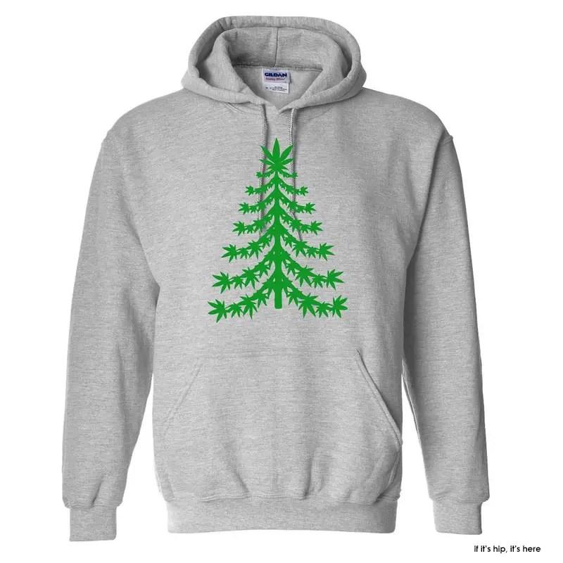 marijuana christmas tree hoodie iihih