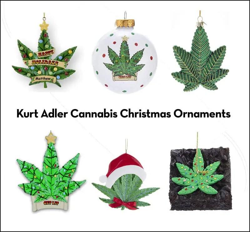 kurt adler cannabis christmas ornaments 2020