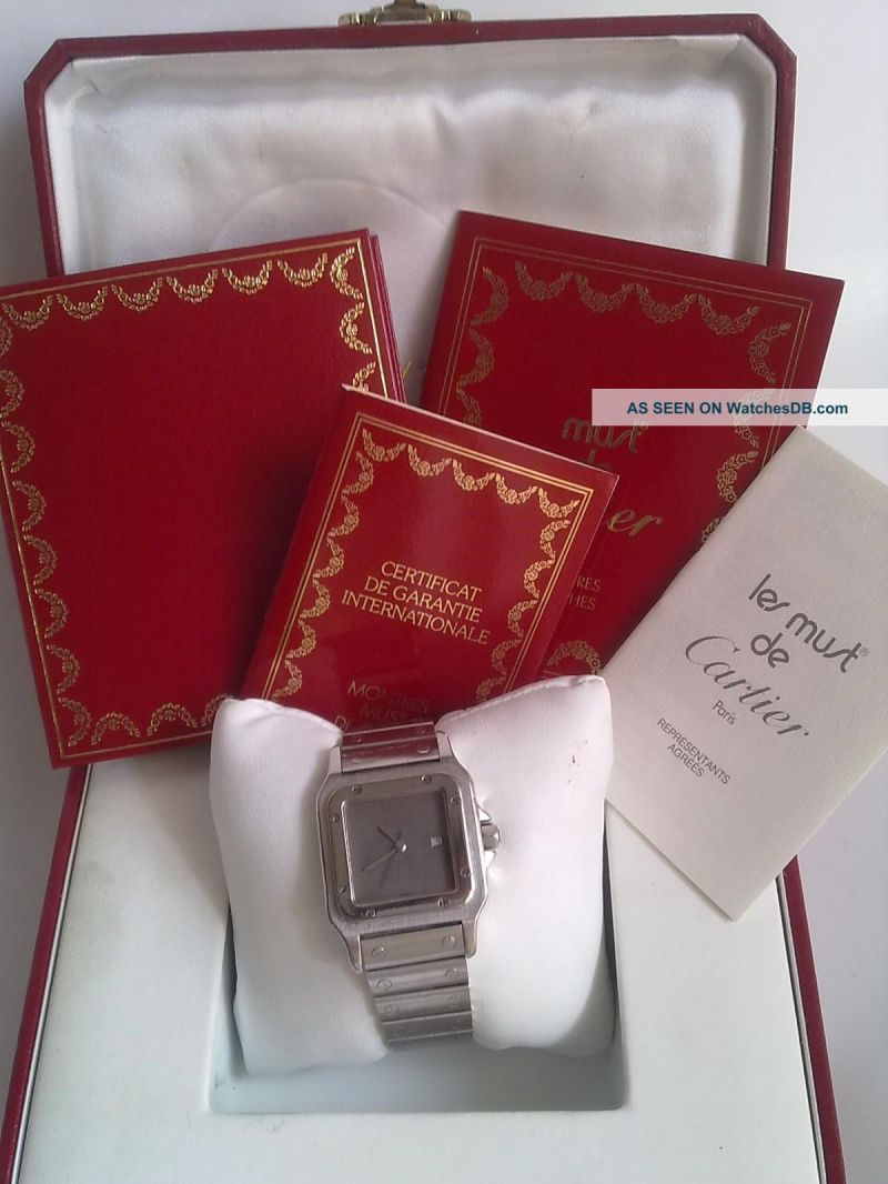 cartier_santos_stainless_steel_mens_wrist_watch_box_papers_2_lgw