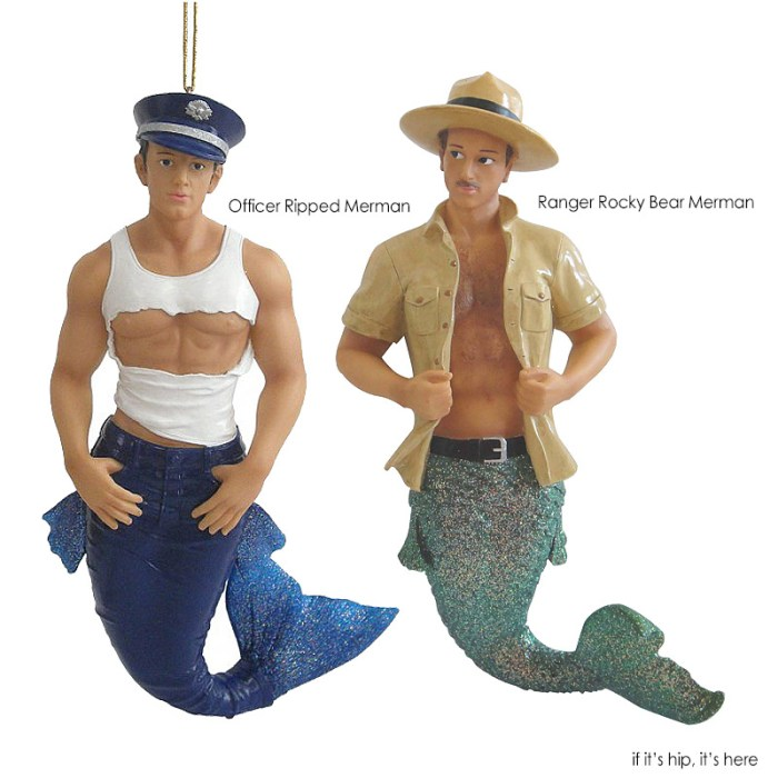 officer and ranger gay christmas ornaments