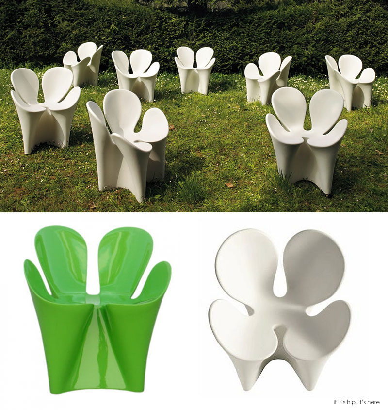 The Clover Chair Combines And Ergonomic Form With A Pleasing And Playful  Organic Shape That Resembles That Of A Clover Leaf. Made In Polyethilene It  Is Both ...