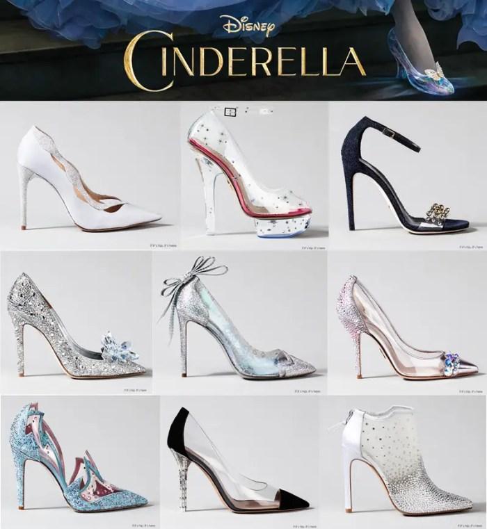 Finished Designer Cinderella Glass Slippers