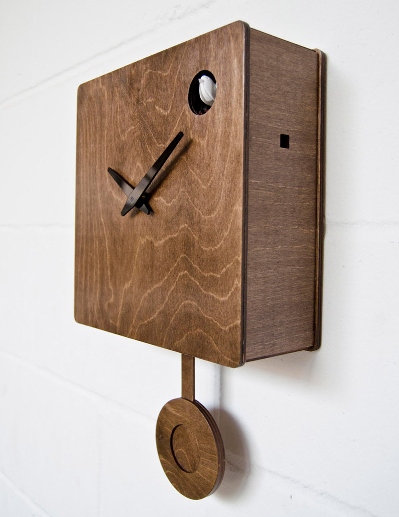 Pedro mealha makes marvelous modern cuckoo clocks if it 39 s hip it 39 s here - Funky cuckoo clock ...