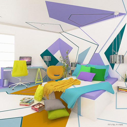 Read more about the article Colorful Kandinsky Inspired Home Interior by Brani & Desi
