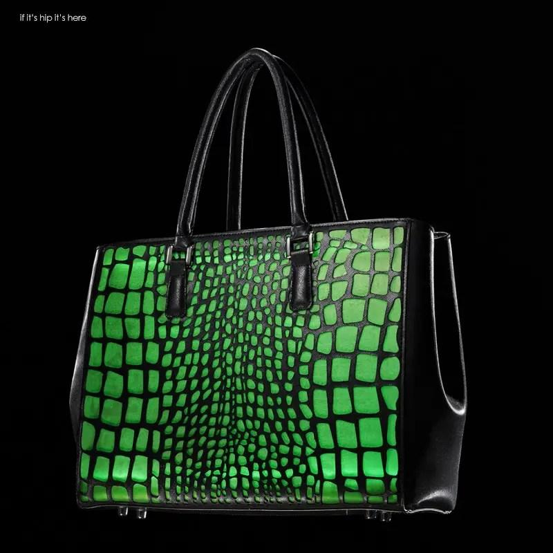 caroline tote croc green IIHIH