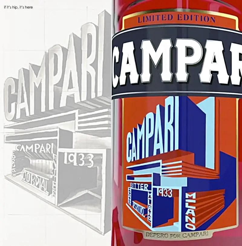 1931 Campari pavilion drawing and new 2015 label IIHIH