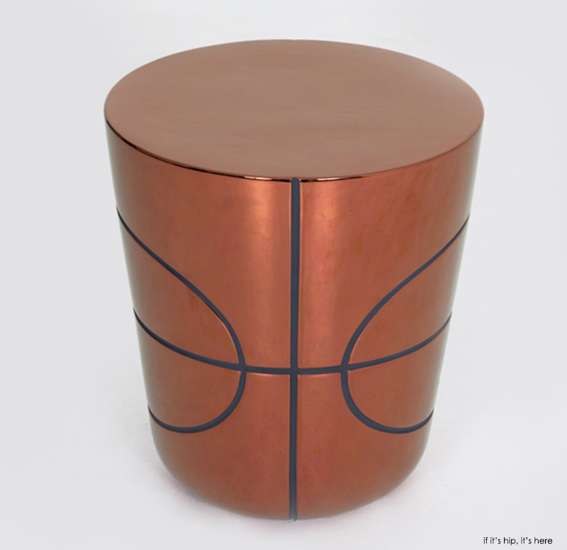 Basketball side table Copper IIHIH