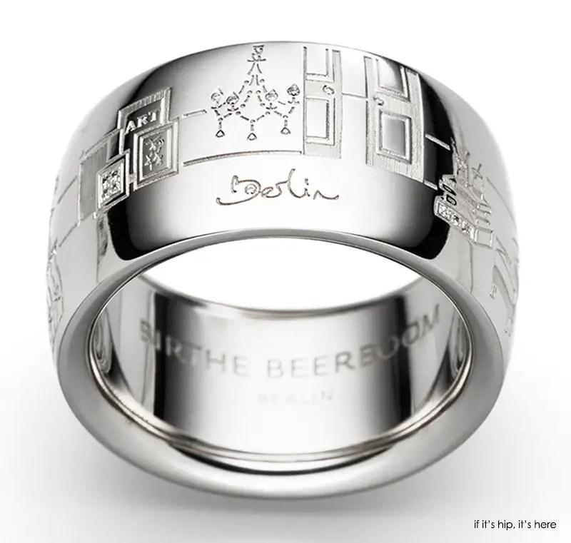 Titanium And Wood Wedding Rings 14 Luxury Berlin ring white gold