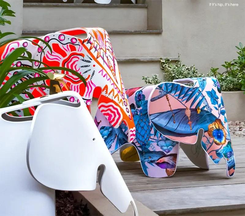 Artist Customised Eames Elephants