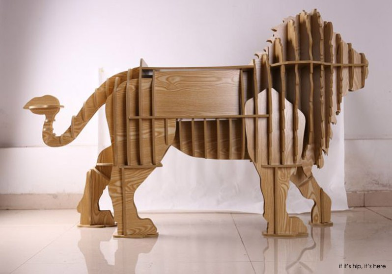 lion with drawers backside
