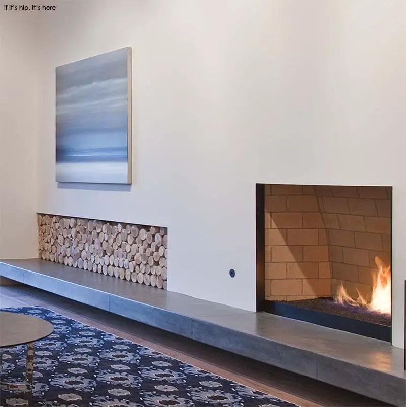 log storage and fireplace IIHIH