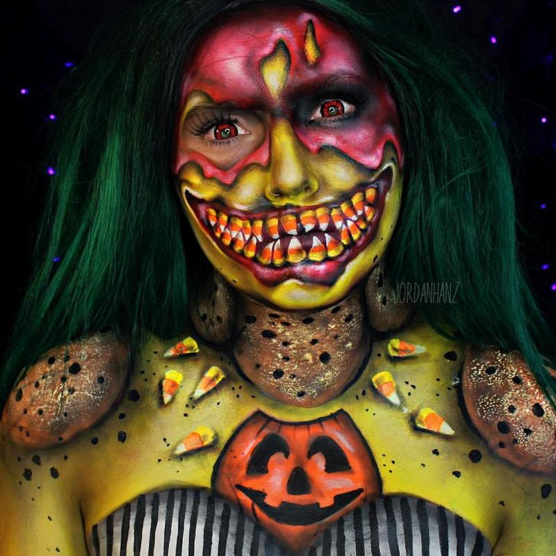 Professional Screeding Pop And Painting Designs Works: The 10 Most Inspirational Halloween Makeup Artists On